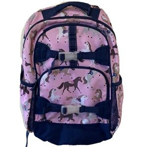 Pottery Barn Kids Backpack Pink Horses Large